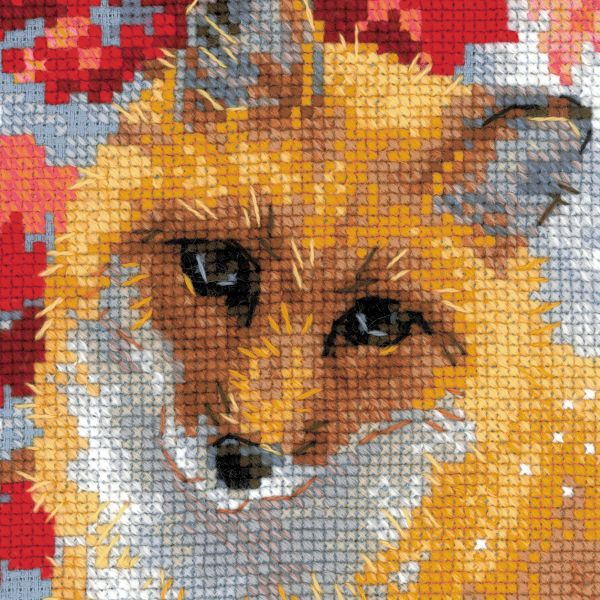 cross stitch kit fox