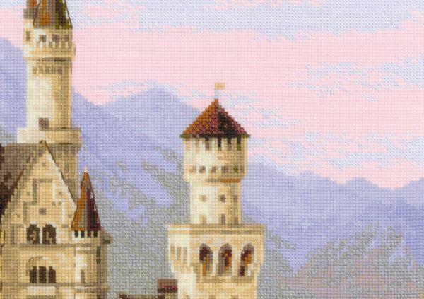 Вышивка замка Нойшванштайн - Риолис 37