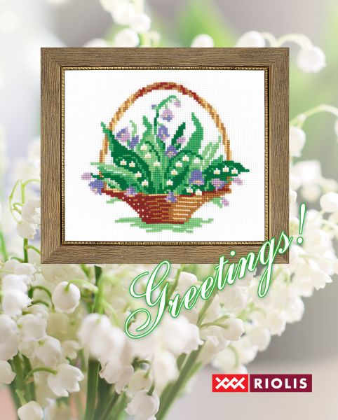 free cross stitch chart of lilies of valley