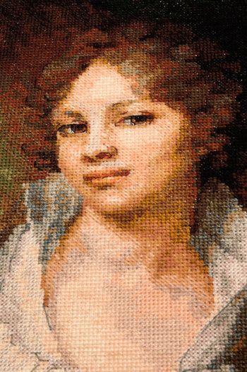 Лопухиной портрет вышивка крестом 74