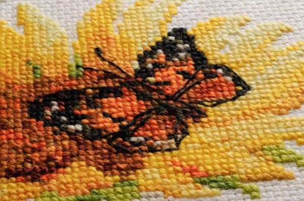 cross stitch sunflowers
