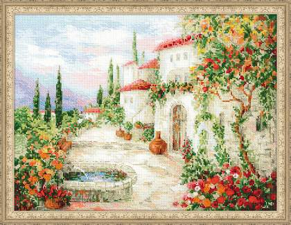10/¾ x 15 20 Colors RIOLIS AM0025 Diamond Mosaic Kit The Italian Courtyard