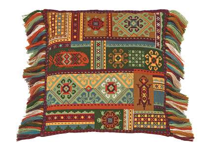 cross stitch kit cushion Terra