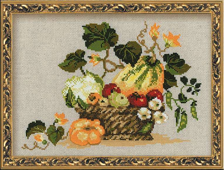 cross stitch kit fruits of autumn