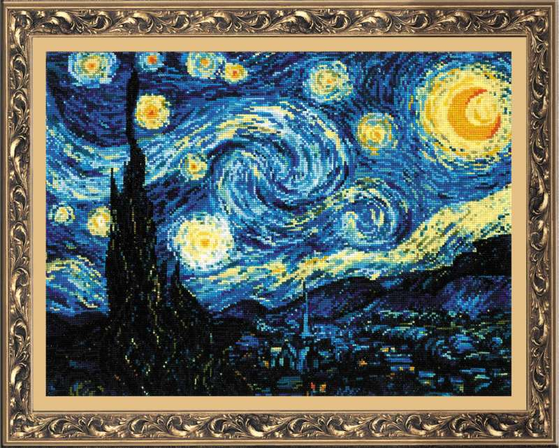 """/""""Irises after Van Gogh`s Painting/"""" Counted Cross Stitch Kit RIOLIS 1087"""