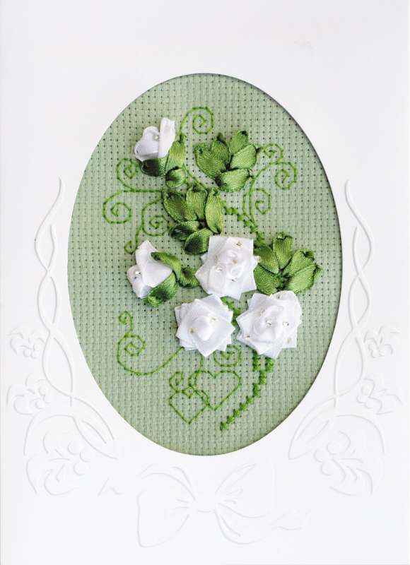cross stitch kit wedding freeting card