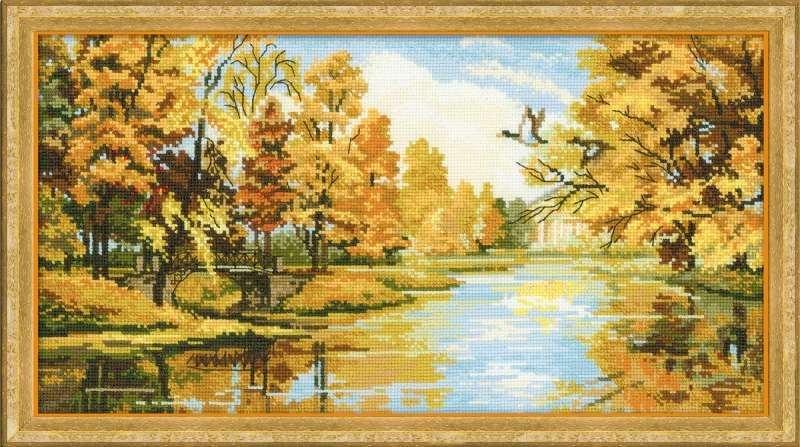 cross stitch kit silent autumn