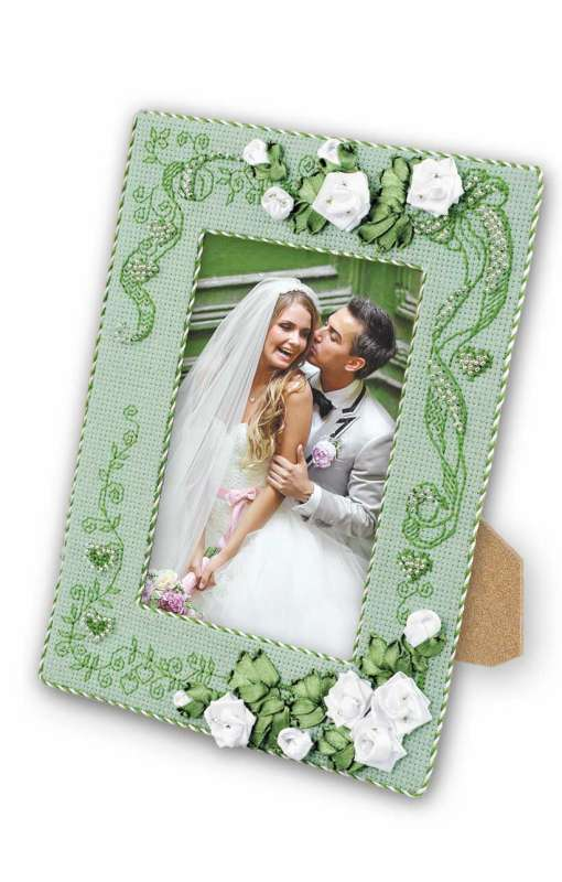 cross stitch photo frame