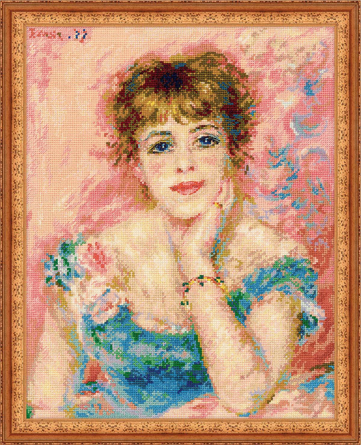 cross stitch kit Portrait of Jeanne Samary