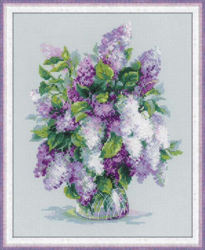 cross-stitch kit Lilac