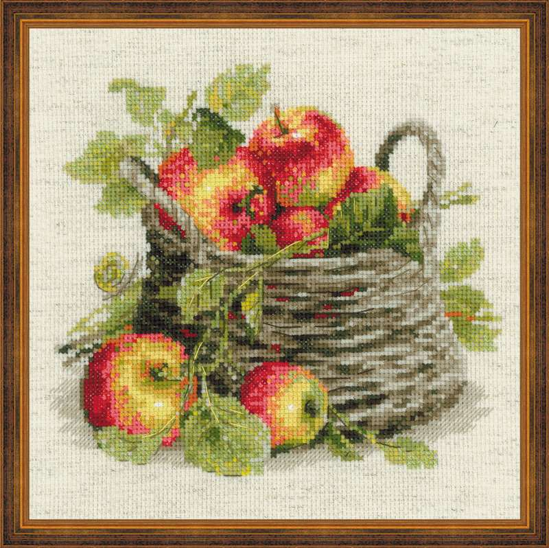 cross stitch kit ripe apples