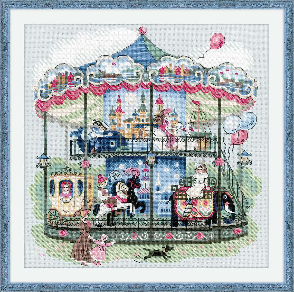 cross stitch kit Carousel