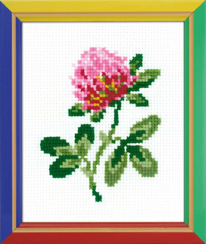 cross stitch kit for beginners clover