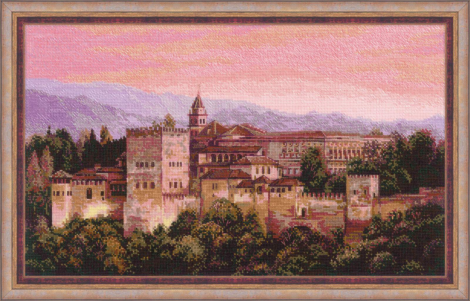 cross stitched Alhambra