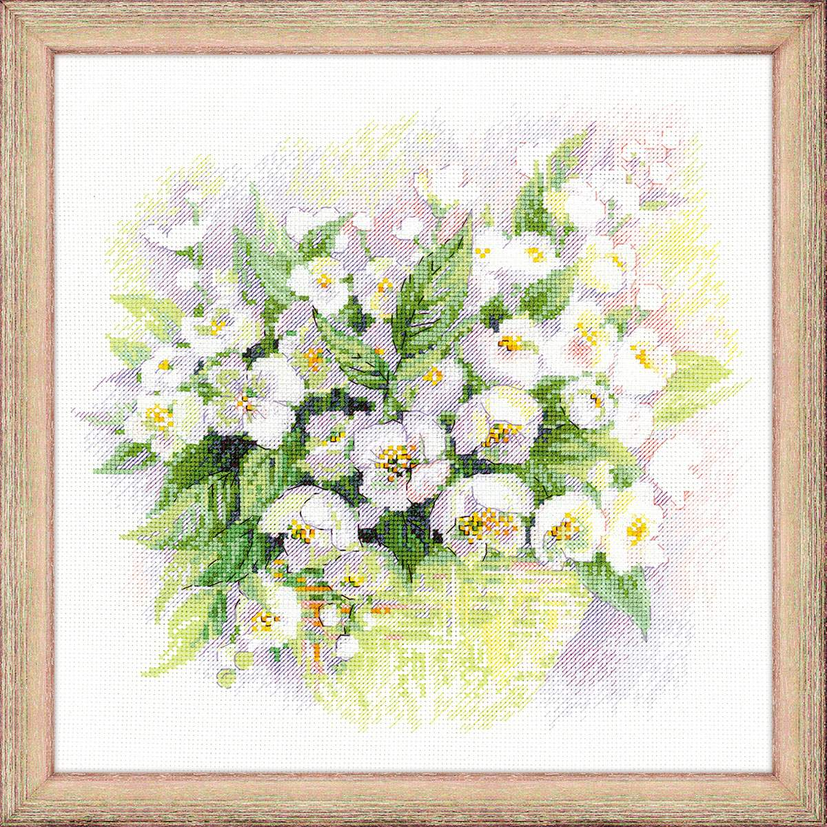 cross stitch kit Watercolour Jasmines