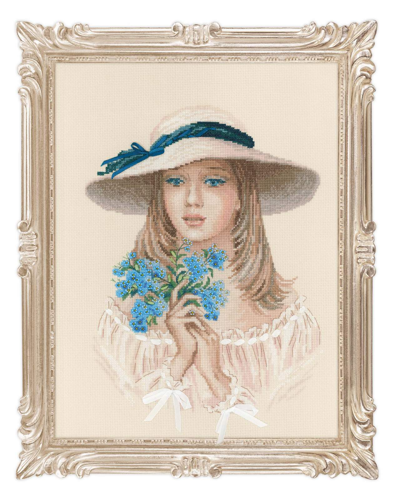 cross stitch kit Forget me not