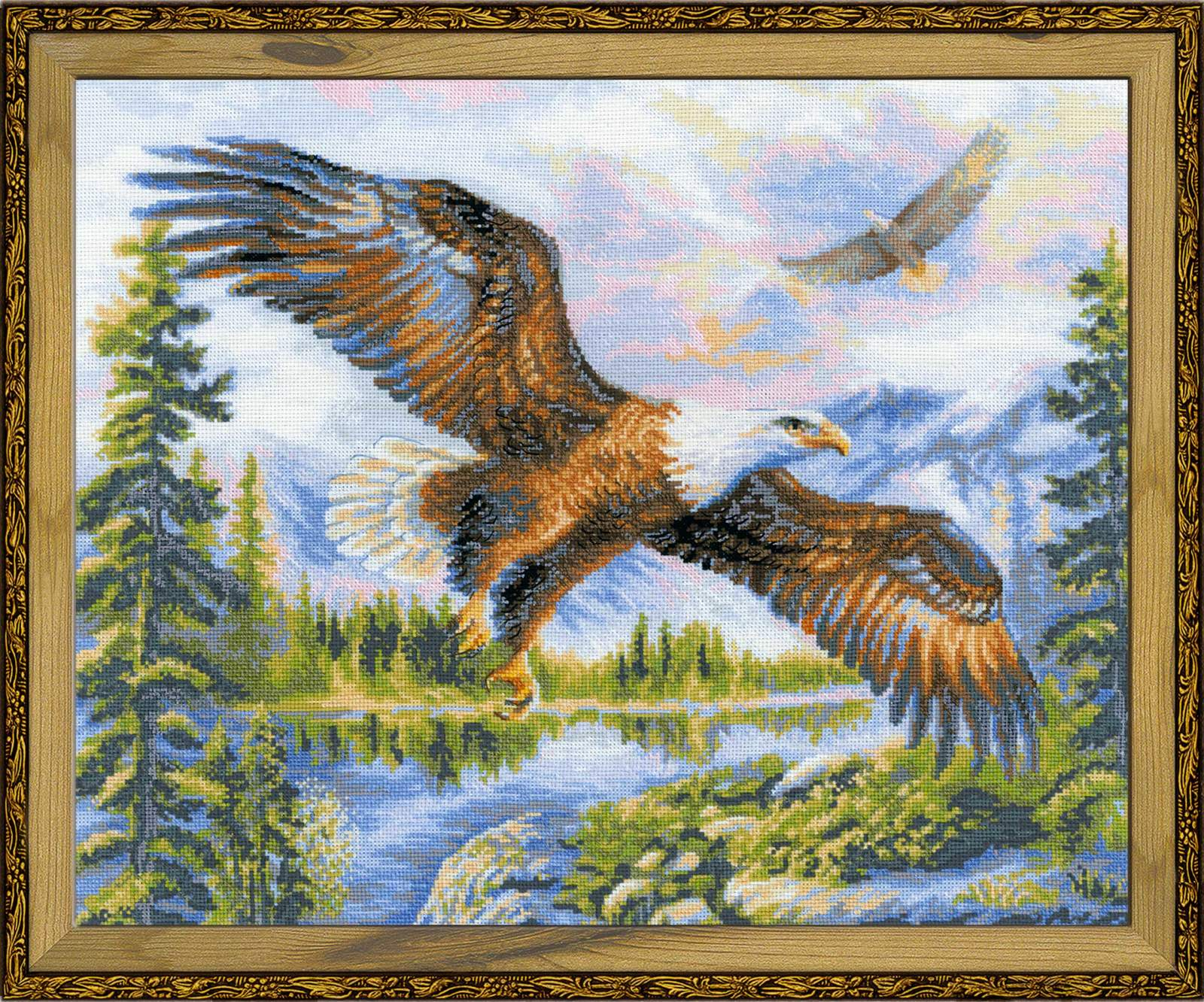 cross stitch kit Free Fall